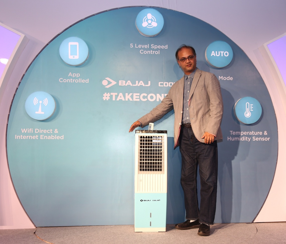 Mr. Anant Bajaj, JMD, Bajaj Electricals Ltd. at the launch of India's first IoT enabled Air Cooler in Bangalore on Thursday_2